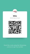 Scan the Whatsup code to contact us directly from your phone