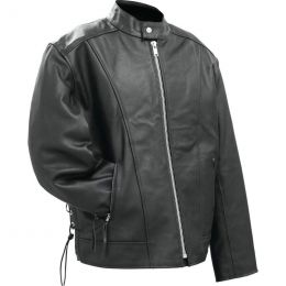 Rocky Mountain Hides Solid Genuine Buffalo Leather Motorcycle Cruiser Jacket