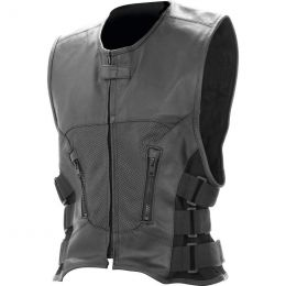 Rocky Mountain Hides Solid Genuine Buffalo Leather Vest