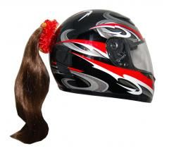 Motorcycle Helmet Ponytail - Brown