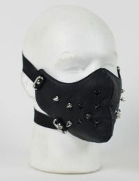 Face Mask - 1/2 Punk Rivet Black