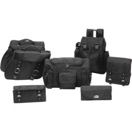 7pc Rock Design Buffalo Leather Motorcycle Bag Set
