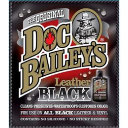 Doc Bailey LBRW Doc Bailey's Leather Black Redye and Waterproof