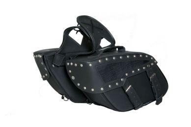 DS313S Two Strap Saddle Bag w/ Studs