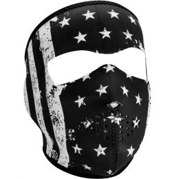 WNFM091 ZAN® Full Mask- Neoprene- Black and White Vintage Flag