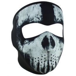 WNFM409 ZAN® Full Mask- Neoprene- Skull Ghost