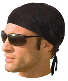HW2609 Headwrap Solid Black (Unlined)