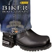BBS/GR6 Weather Proof- Boot Straps- Grim Reaper- 6 Inch