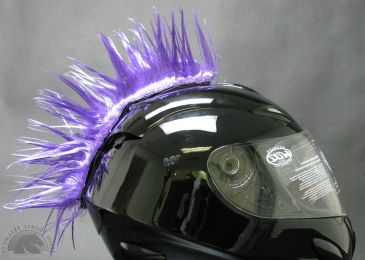 Motorcycle Helmet Mohawk - Purple
