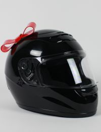 Motorcycle Helmet Bow - Red