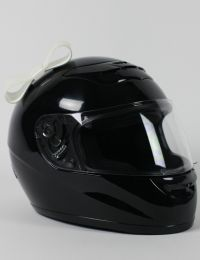 Motorcycle Helmet Bow - White