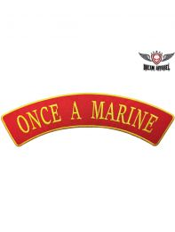 Once A Marine Top Rocker
